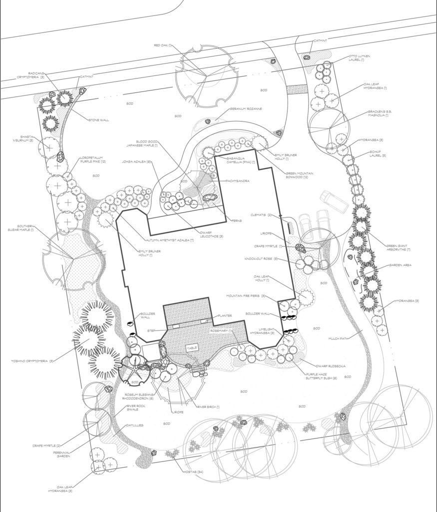 Kenmure, Landscape design, CAD drawing, Landscape plan
