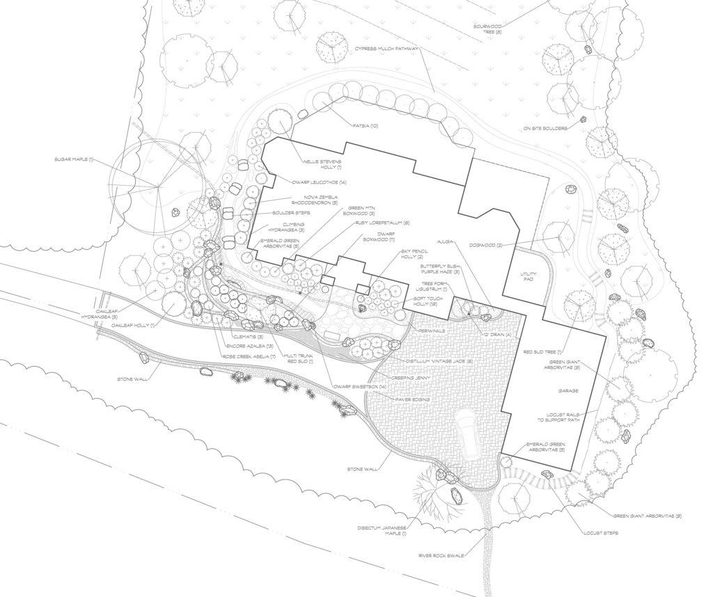 The Cliffs, Walnut Cove, Landscape design, CAD drawing, Landscape plan