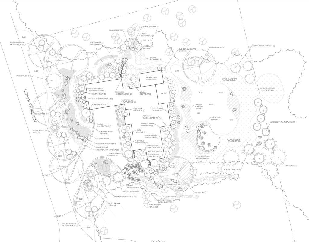 asheville, Landscape design, CAD drawing, Landscape plan