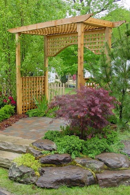 garden, design, landscaping
