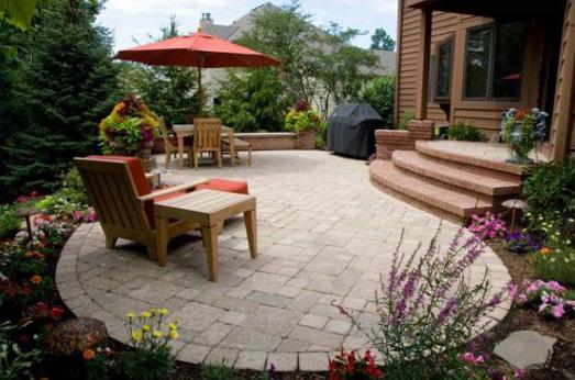 Paver, patio, steps, landscape